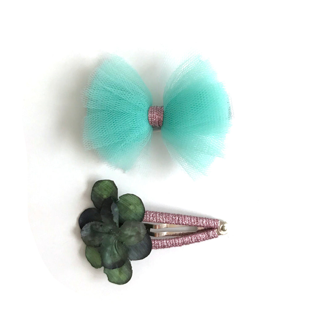 summer blue hair slides (pair)