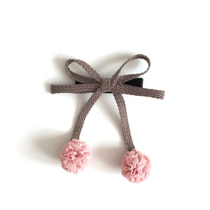 pale pink cherry hair slide