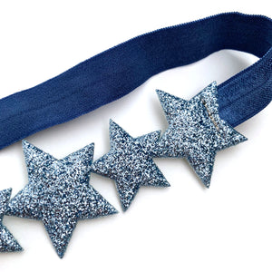 little stars headband in blue