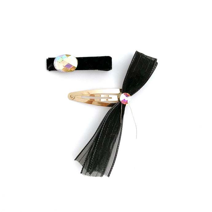 Party Hair Slide - black