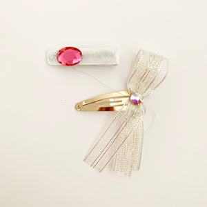 Party Hair Slide - white