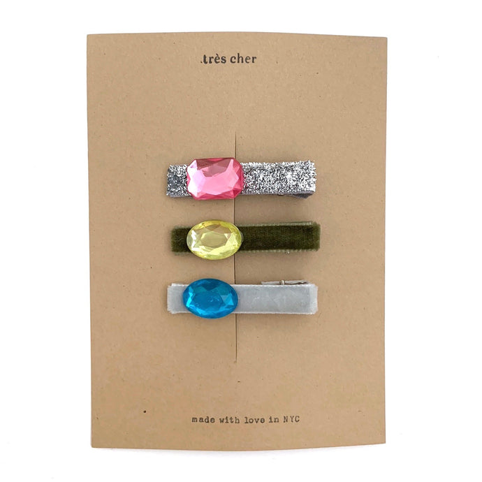 Bling hair clips (holiday 1 mix)