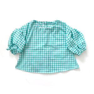 Tula Blouse, mint gingham