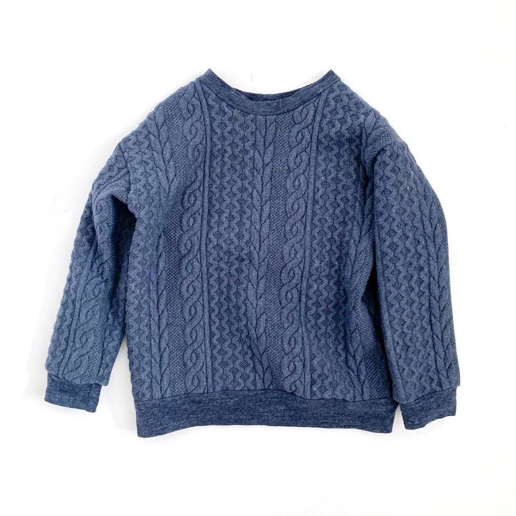 Cable Knit Pullover, denim