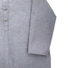 Henley Boy Shirts, gray speckles