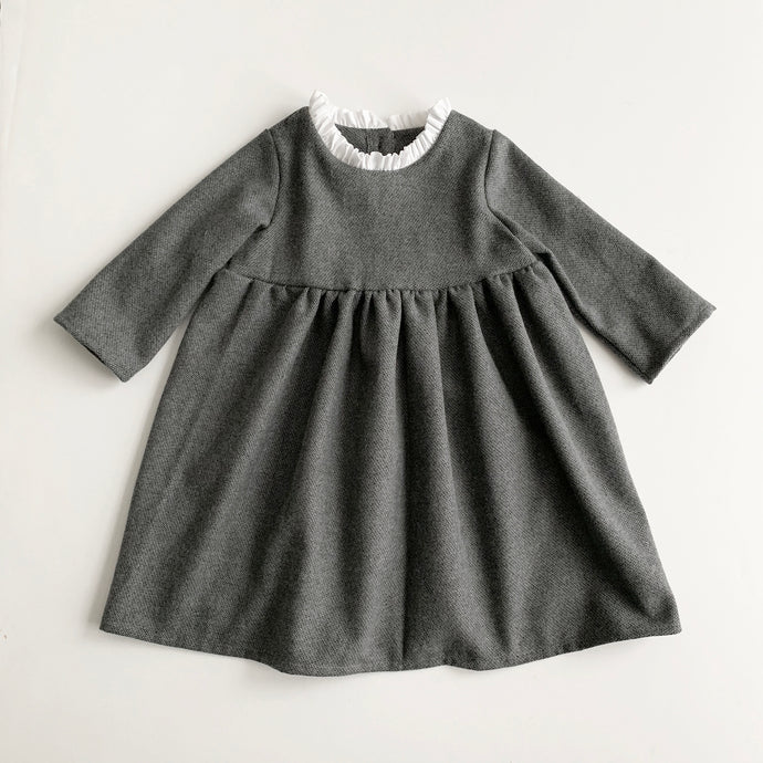 Anna Ruffle Dress (Gray)