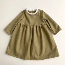 Anna Ruffle Dress (Sage)