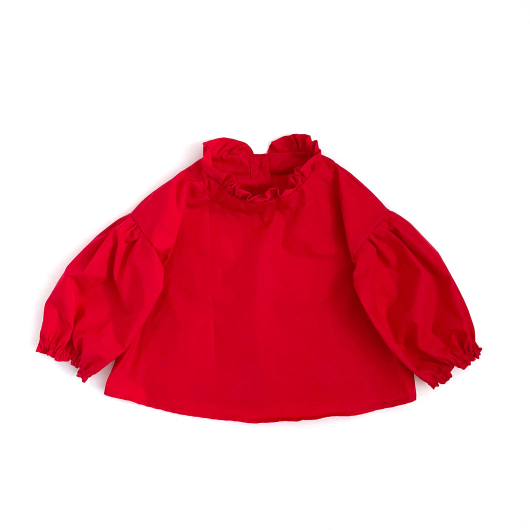 Mori Blouse, red