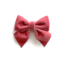 Velvet Bow hair clips (brown)