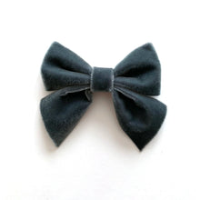 Velvet Bow hair clips (rose)