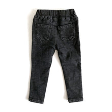 Fleece-lined Winter Slim Jeans (washed black)