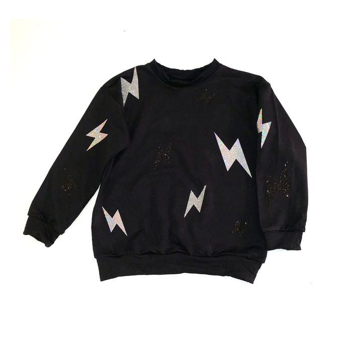 Thunder Bolt Pullover, black