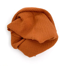 Cotton Gauze Scarf (burnt orange)