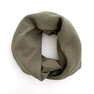 Cotton Gauze Scarf (army green)