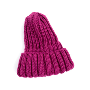 Ribbed Beanie - Purple