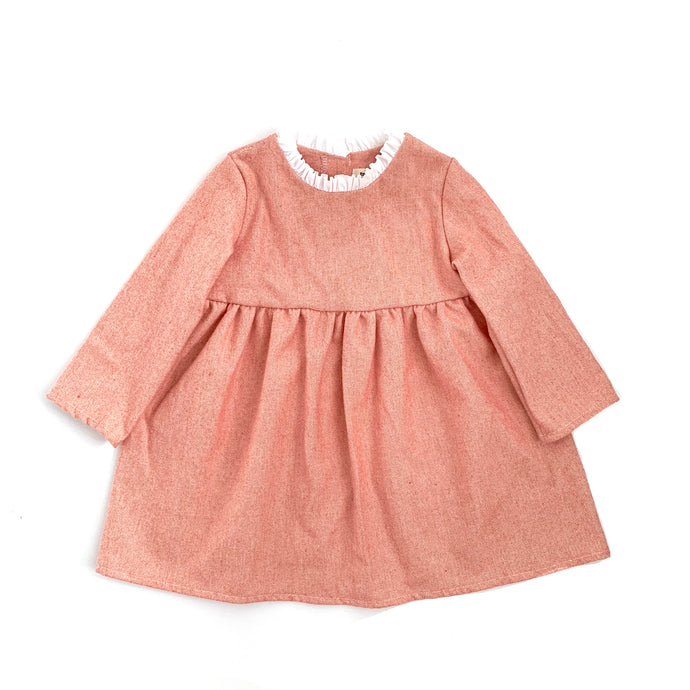 Anna Ruffle Dress (Orange)