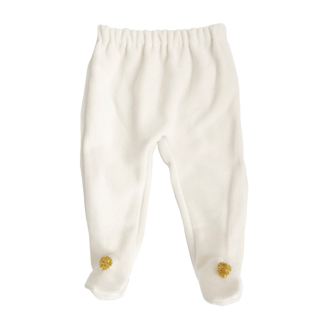 Brook Baby Footed Pants - Ivory