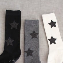 Twinkle socks - Ivory with Black Stars