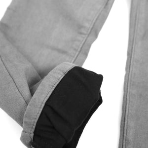 Amazing Fleece-lined Slim-fit Trousers (Taupe)