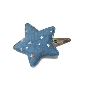 Grand Etoile hair clip (star chambray)