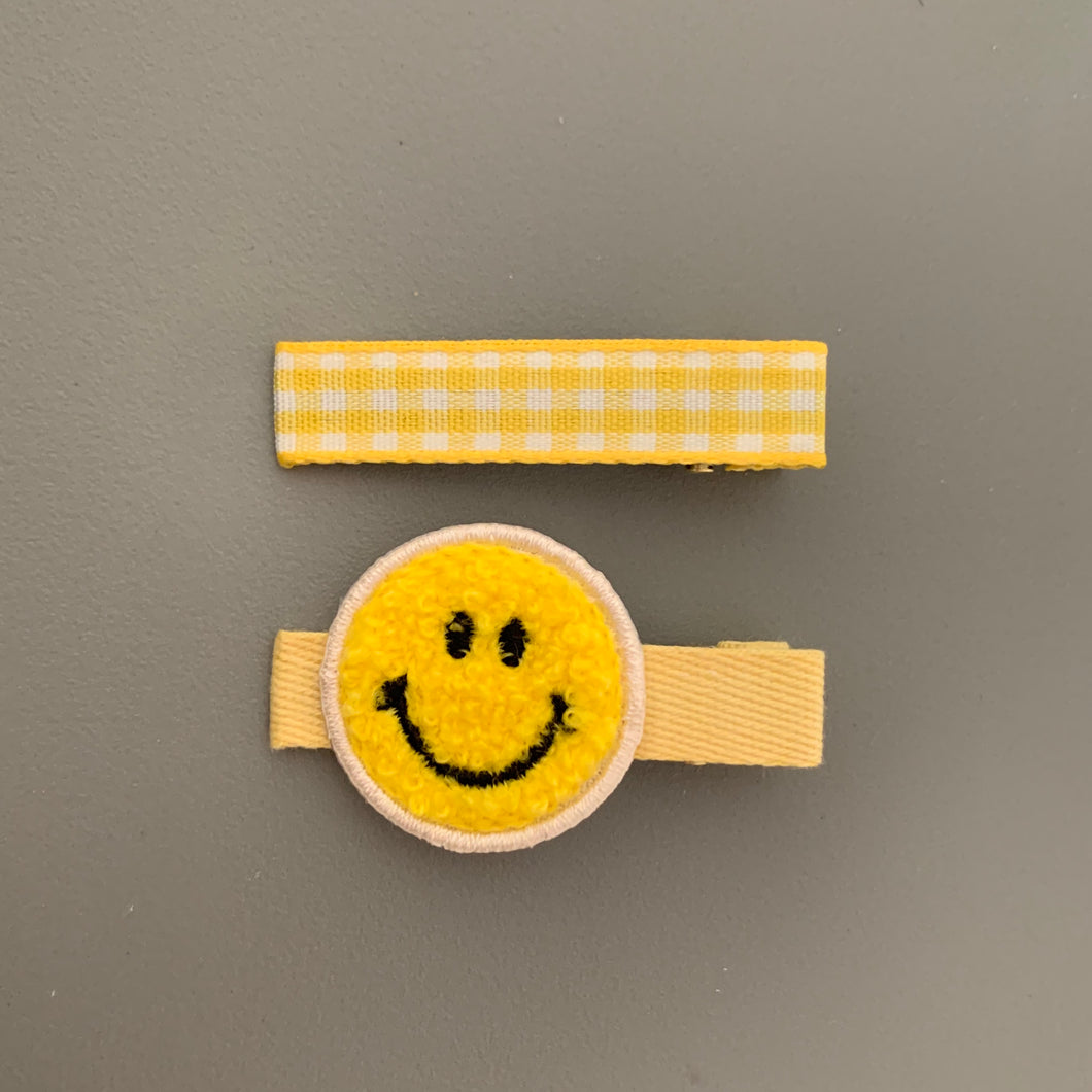 Smiley Face Hair Slides