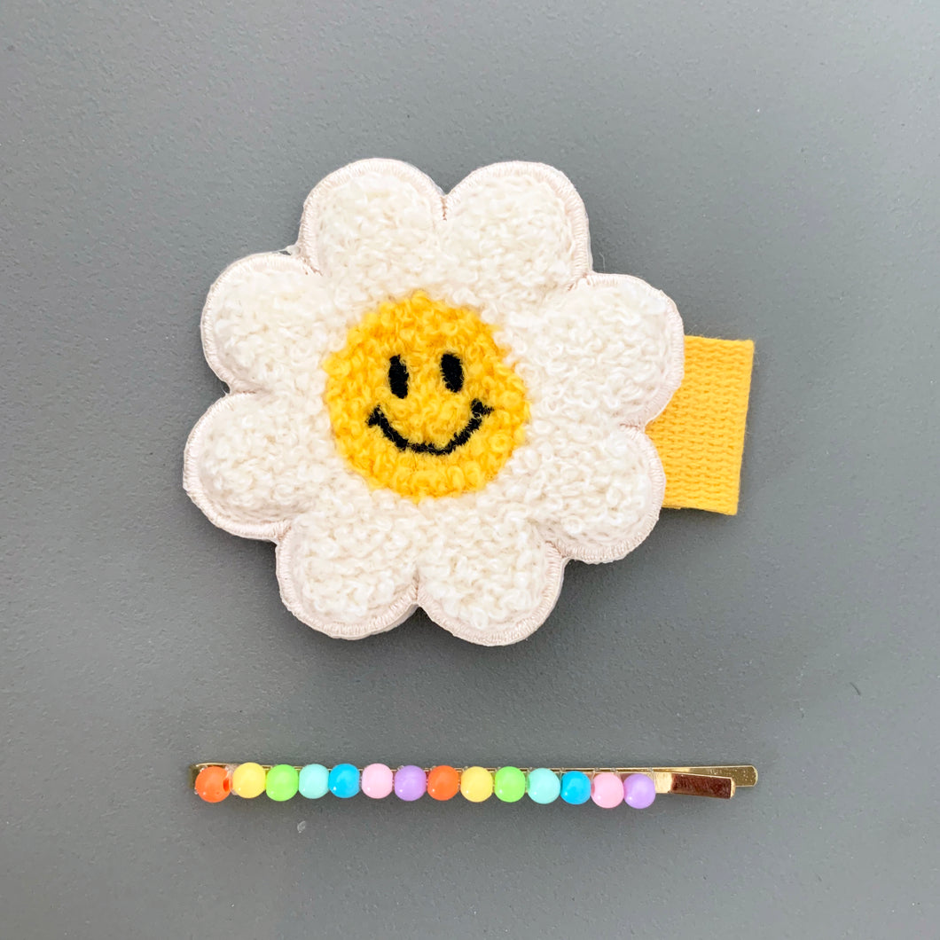 Daisy and Rainbow Hair Slides