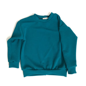Pique Knit Pullover, teal