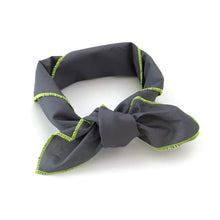 Scarf with neon piping (charcoal)
