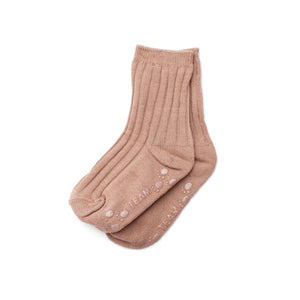 Ribbed Ankle Socks - Dusty Rose