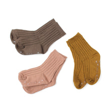Ribbed Ankle Socks - Mustard