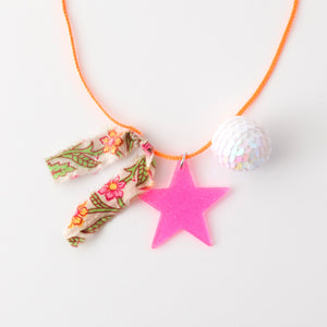 Star and sequin ball necklaces (silver star)