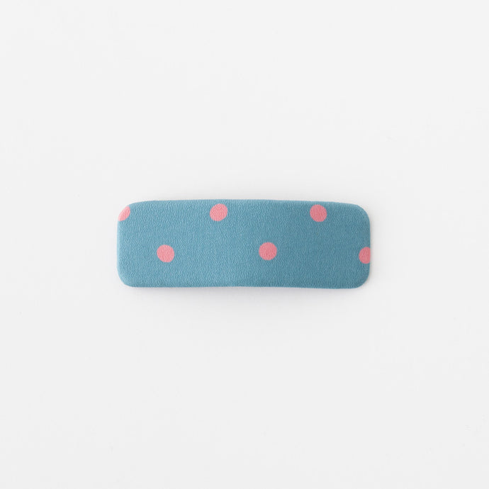 Dot hair clips (teal blue)