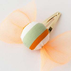 Candy hair clips (orange)
