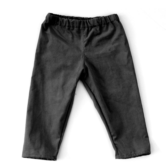 Cotton lined Cord Trousers (black) - baby