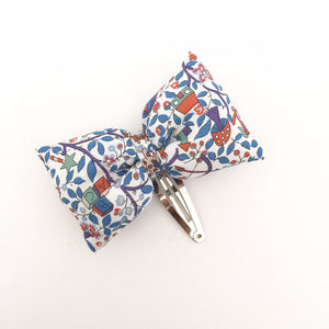 Puffy bow Hair Slide, blue toy garden