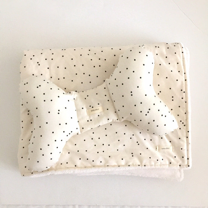 Stroller Blanket & Pillow Set - polka dot