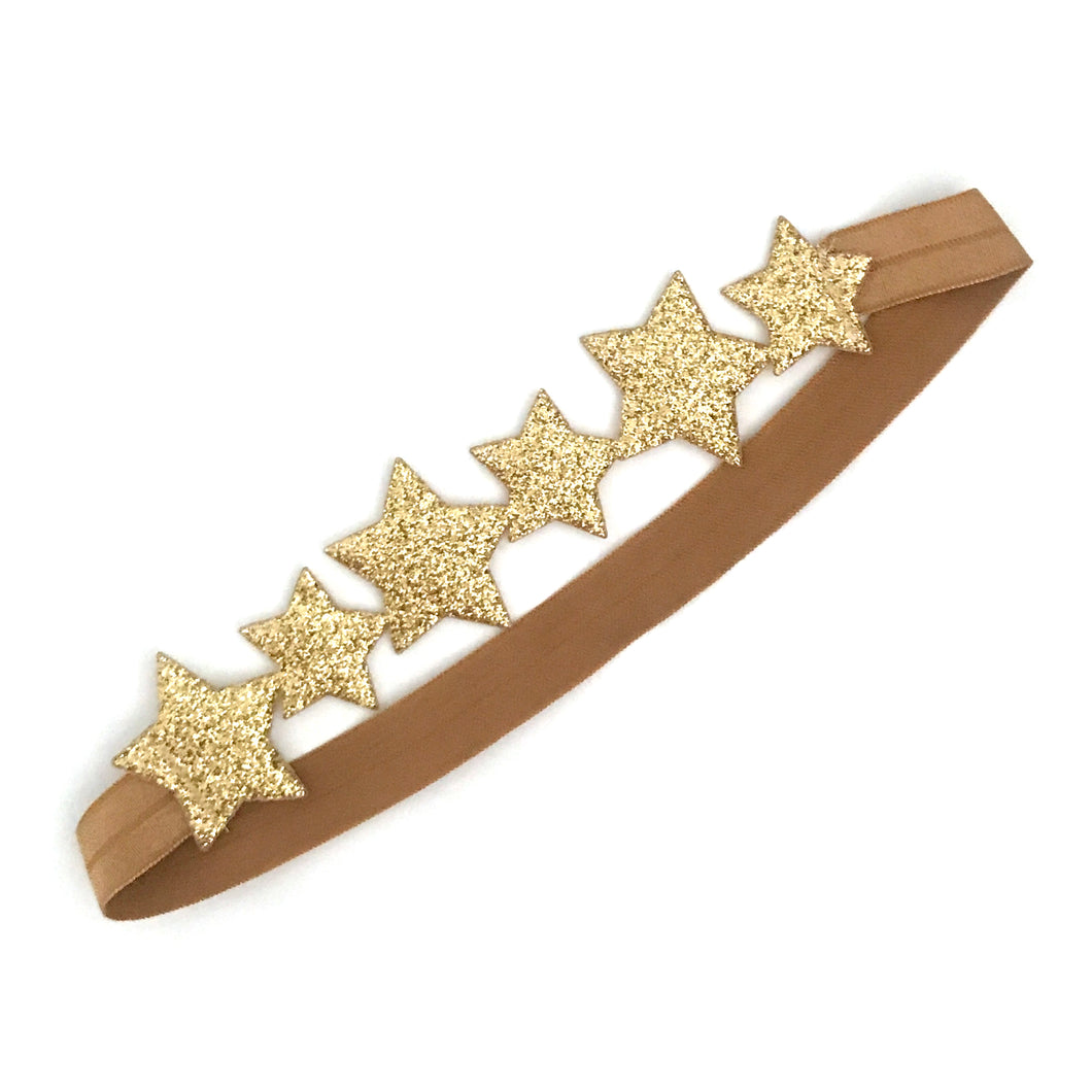 little stars headband in gold