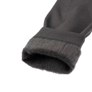 Fleece-lined Footless Tights - Black