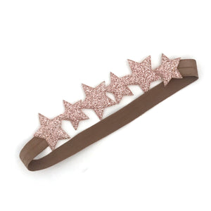 little stars headband in rose gold