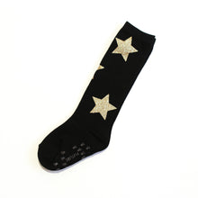 Twinkle socks - Black with Gold Stars