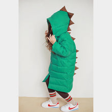 Dino long padded parka - green