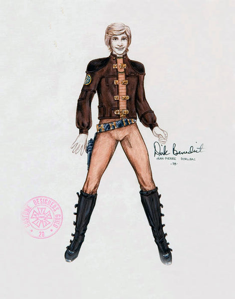 Revised costume illustration by Jean-Pierre Dorléac.