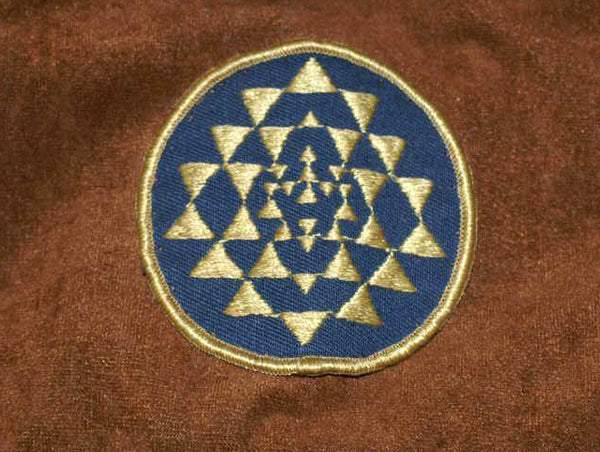 Original screen used patch on pincord-velvet fabric.