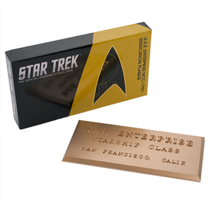 STAR TREK™: The Original Series U.S.S. Enterprise NCC-1701 Dedication Plaque Replica