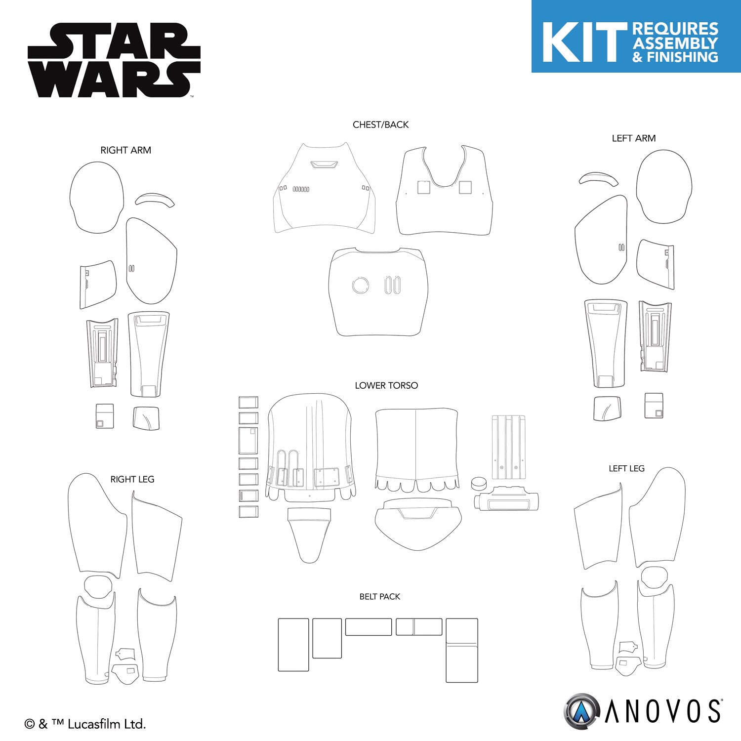 STAR WARS™ First Order Stormtrooper Armor Kit Replacement