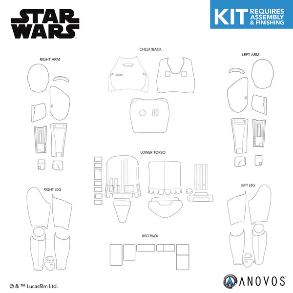 STAR WARS™ First Order Stormtrooper Armor Kit Replacement Parts
