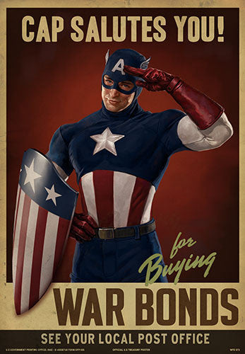 "MARVEL™ Captain America ""Cap Salutes You"" Prop Poster"