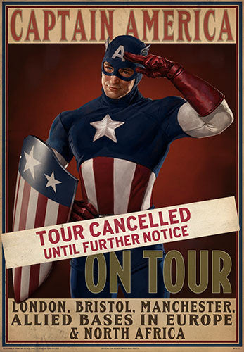 "MARVEL™ Captain America ""Tour Cancelled"" Prop Poster"