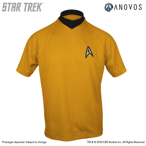 STAR TREK: THE ORIGINAL SERIES Shore Leave Collection Starfleet Uniform Shirt (Capt. Kirk Command Gold)
