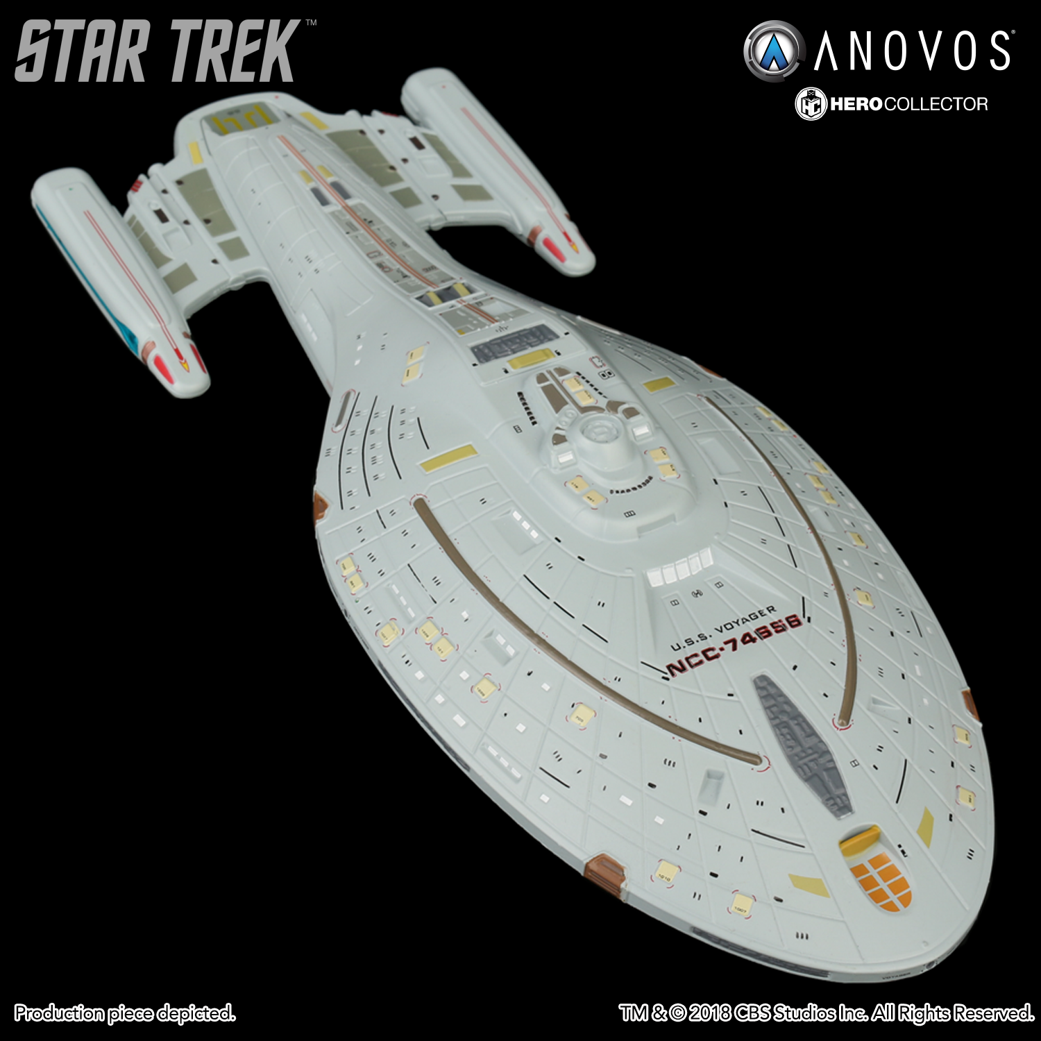 Star Trek Voyager Uss Voyager Ncc 74656 Collectible Xl Edition Ship Model Reservation
